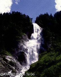 Alps Water fall in spring